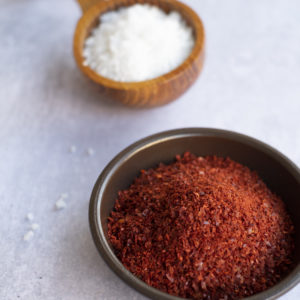 Gochugaru and Korean sea salt by The Korean Pantry
